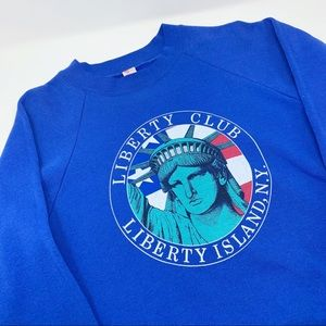 Vintage Statue of Liberty NY Oversized Sweatshirt